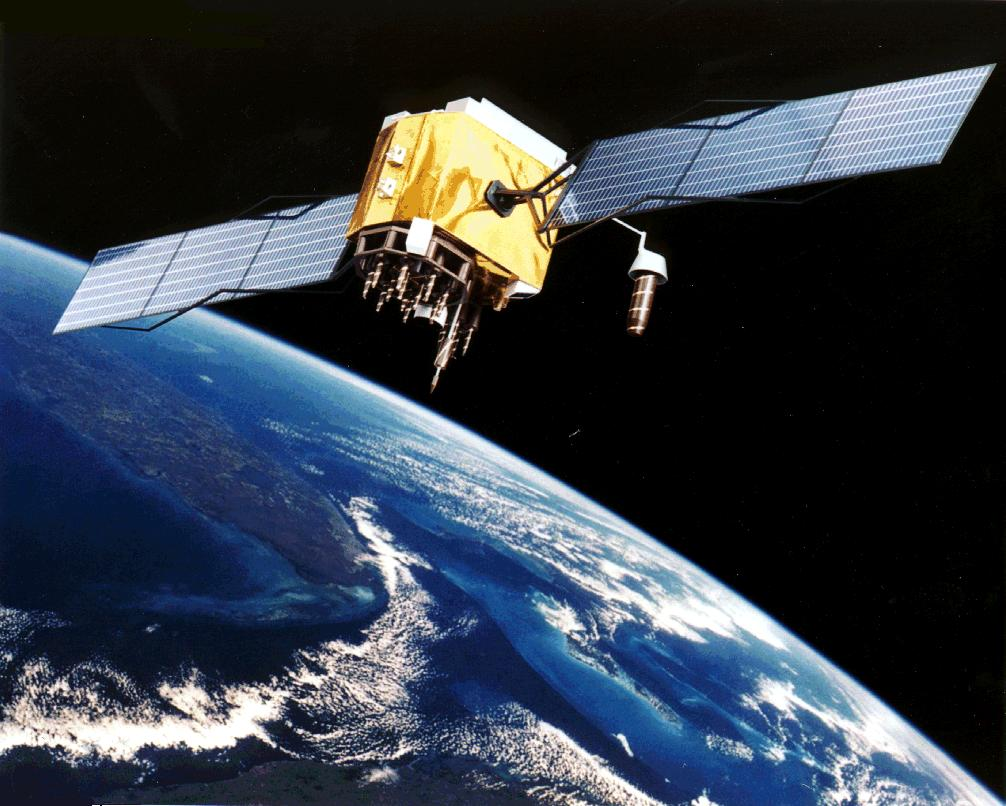 Satellite with the Earth in the background